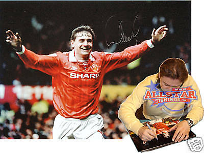Kanchelskis Signed Manchester United Photograph Proof