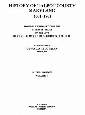 2 Vol 1915 Genealogy History Talbot County Maryland MD