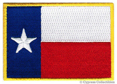 TEXAS STATE FLAG PATCH EMBROIDERED IRON-ON LONE STAR TX REPUBLIC applique BEST