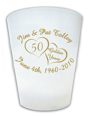 240 Personalized Custom 50th Anniversary Shot Glasses