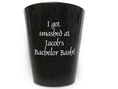 50 Personalized Bachelor Party Favor Plastic Shot Glasses NEW