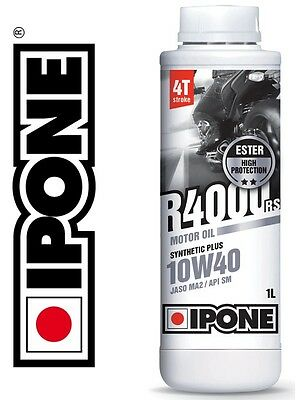 Huile IPONE R4000 RS 10W40 1L semi-synthétique 4T moto enduro 1 Litre NEUF oil
