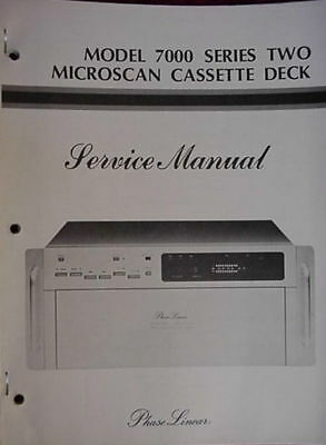 PHASE LINEAR PL 7000 II CASSETTE SERVICE MANUAL 90 page