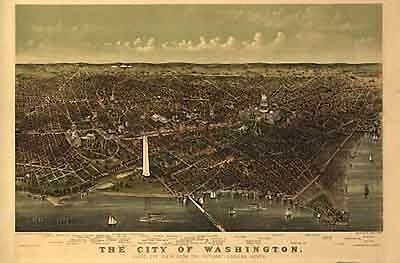 27 Panoramic Maps of Delaware DE Maryland MD & DC on CD