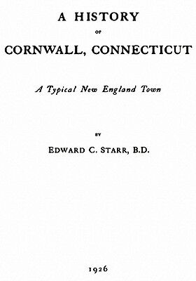 Genealogy & History of Cornwall Connecticut CT