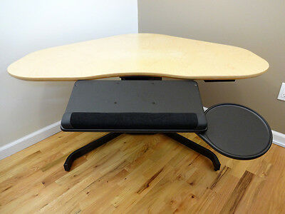 Articulating Under Desk Keyboard Mouse Tray Platform