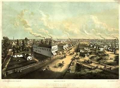 61 Antique Vintage Panoramic Maps of Wisconsin WI on CD