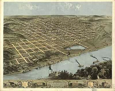 25 Antique Panoramic Maps of KS NE ND & SD on CD