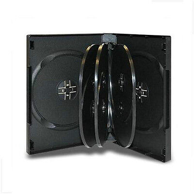 NEW! 8-Disk DVD Case w/trays 3pack Lot (27mm) Black