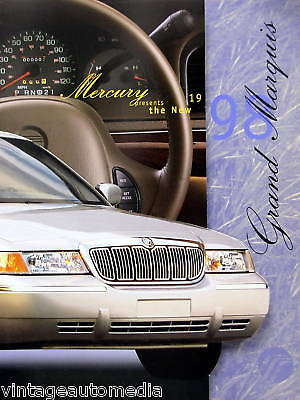 1998 Mercury Grand Marquis salesperson product guide