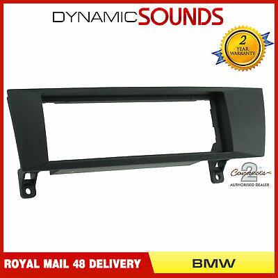 FP-06-06 Black Fascia Facia Adaptor Panel Surround Stereo For BMW 1, 3 Series
