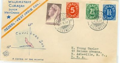 Curacao Taylor hand drawn Cover of Month Scott 128//132