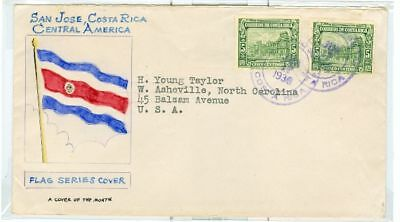 Costa Rica Taylor  Cover of Month Scott 155 1936