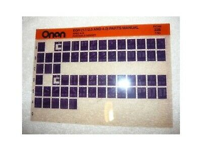 Onan EGH Spec A-B Port Genset Parts Manual Microfiche