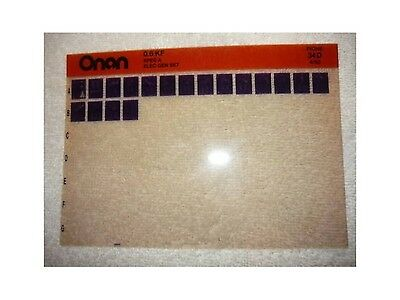 Onan 0.6 KF Spec A Elec Genset Parts Manual Microfiche