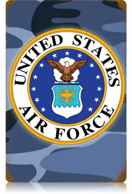 """""""U S Air Force"""" Vintage Metal Sign - Made in the USA"""