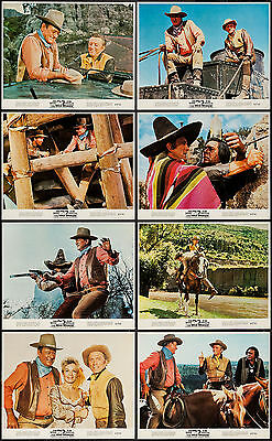 THE WAR WAGON original 1967 color lobby still set JOHN WAYNE/KIRK DOUGLAS