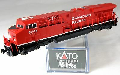 "N Scale GE ES44AC ""GEVO"" Locomotive - Canadian Pacific #8705 - KATO #176-8903"