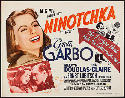NINOTCHKA original ROLLED 22x28 movie poster GRETA GARBO/HIRSCHFELD Art