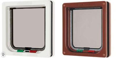 Cat Mate Door 4 Way Locking Cat Flap White Or Brown
