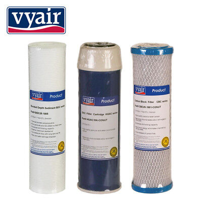 3 Spare Filters Water Filter  Ro Reverse Osmosis