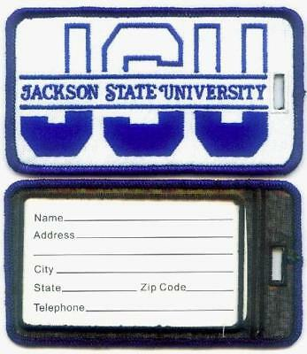 JACKSON STATE UNIVERSITY  Luggage ID Tags (Set of 2) - Embroidered