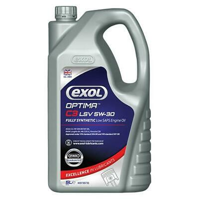 Fully Synthetic Engine Oil 5W30 5L Vw 507 Spec Golf, Pd Engines By Exol