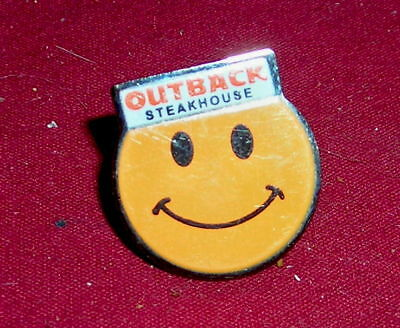 Outback Steakhouse Orange Smiley Face Pin