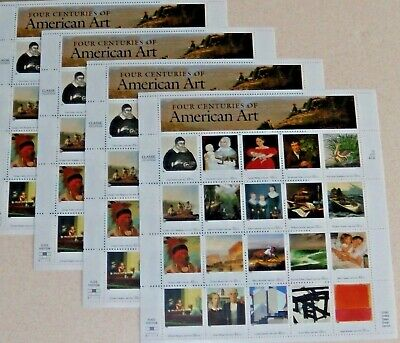 Five x 20 of FOUR CENTURIES OF AMERICAN ART 32 ¢ US Postage Stamps S c# 3236 a-t