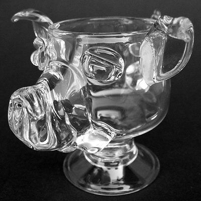 Pig Coffee Mug Hand Blown Crystal Wine Glass