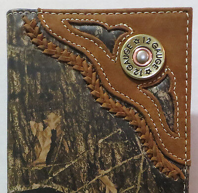 Nocona Western Checkbook Cover Wallet Billfold 12 Gauge Camo Checkbook