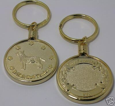 Keychain British Bull Terrier Engravable Favorite Dog