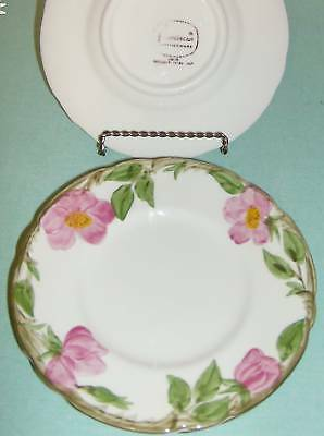Franciscan China Desert Rose Bread Butter Plates 3 asis