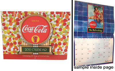Coca Cola Coke Soda 2011 Wall Calendar Old Ad Graphics Great Images For Framing