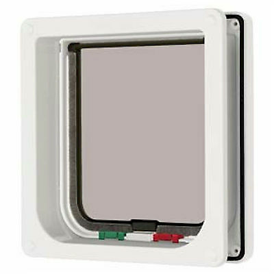 Cat Mate Door White 4 Way Lock Cat Pet Flap + Liner 235 W