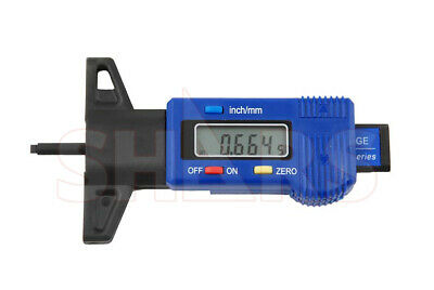 "Shars 0-1"" Digital Digimatic Depth Gage Inch Metric Gauge .0005"" Tire Thread"
