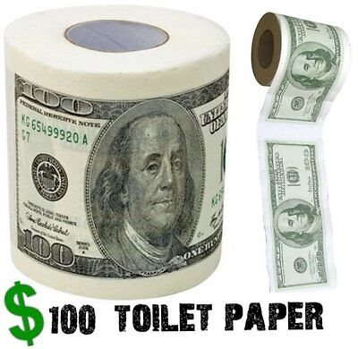 One Hundred Dollar Bill Toilet Paper Money Roll $100 - Novelty Fun Gag Gift Joke