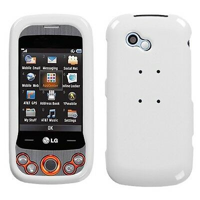 Ivory White Hard Case Snap on Cover LG Neon II GW370