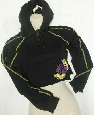 Nwt Capezio Frontline Black Cropped Hoodie Adult Szs