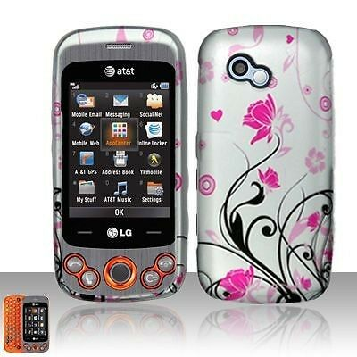 Pink Vines Hard Case Cover for LG Neon II 2 GW370