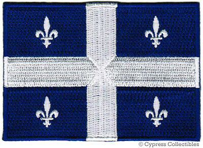 QUEBEC FLAG embroidered iron-on PATCH CANADA new EMBLEM CANADIAN PROVINCE FRENCH