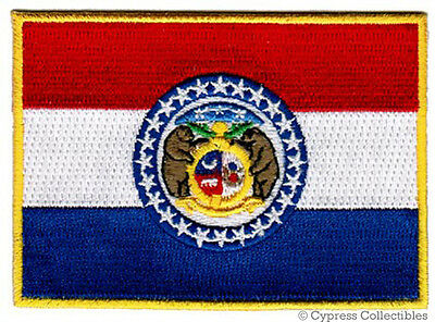 MISSOURI STATE FLAG embroidered iron-on PATCH SHOW ME applique emblem