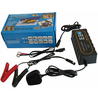 New Optimax IQ Motorbike / Car 12V Battery Charger