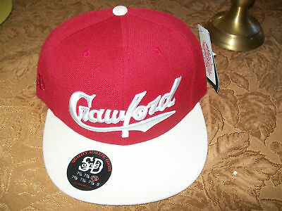 Crawford Stall & Dean Baseball Flat Bill Hat Cap Lid 2-Tone Maroon Fitted 7 1/2