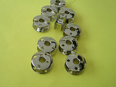 10 Singer Sewing Machine Metal Bobbins 201K/99K/66K/185K/401/411G/300/400/series