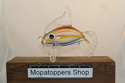Large Colourful Glass Fish Ornament Paperweight FREEP&P