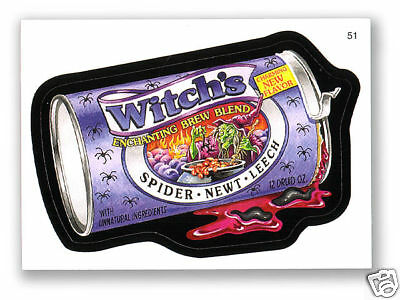 Wacky Packages Series #6 - Witch's Grape Juice - Sticker #51 - Mint!!