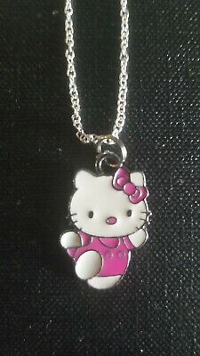 hello kitty Magenta Hot pink Runner Jogger fitness charm pendant necklace