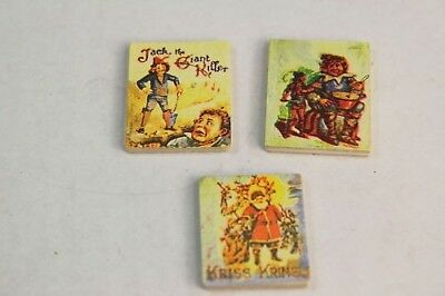 NEW Dolls House Set of 3 Childrens Books - 1/12th Scale