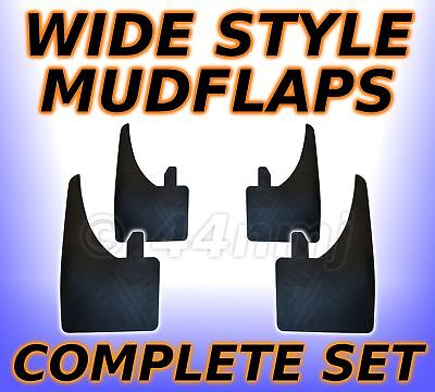4 x WIDE Rubber Mud Flaps FRONT & REAR Mudflaps  Universal  - Wide Style